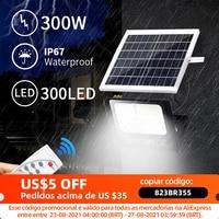 300/200/100w Solar Licht Im Freien Sonne Licht Batterie Lampe Licht Sensor Garten LED Solar Lampe Straße wand Led Licht Für Straße