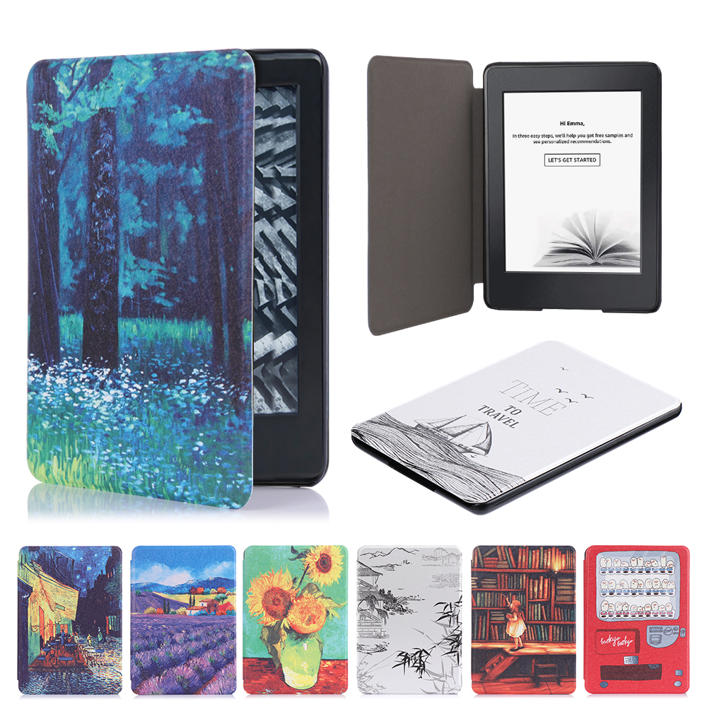 New Flip Protective Shell Cover Ultra Slim Smart Case Magnetic PU Leather Protective Cover For Amazon Kindle Paperwhite 1/2/3
