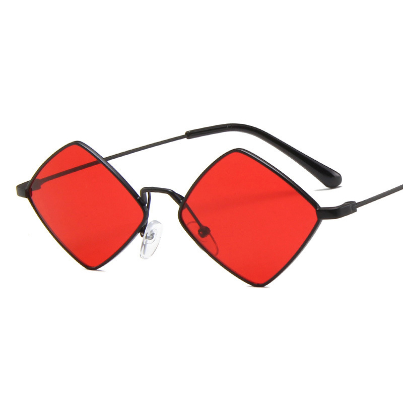 Fashion Metal Sunglasses Women Vintage Small Frame Rhombus Sun Glasses Mirror Gradient Uv400 Ladies Oculos Gafas De Sol