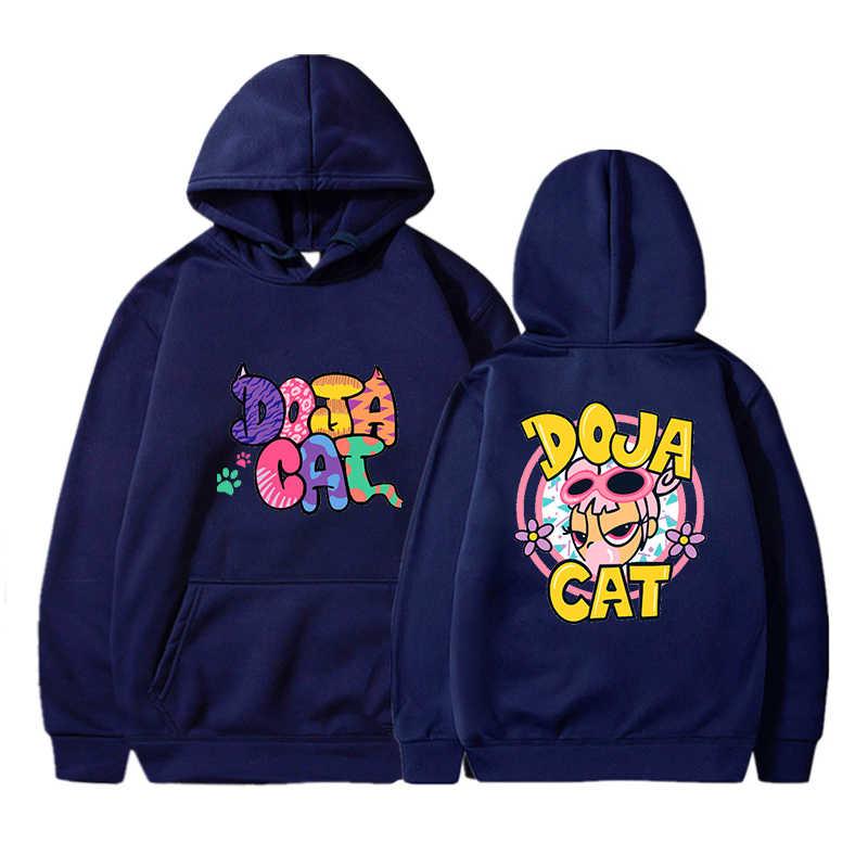 Uomo Donna Pullover Felpa DOJA GATTO di Stampa Harajuku HOODIES di Modo di Modo Kpop Hoodie Delle Donne Giubbotti e Cappotti Streetwear