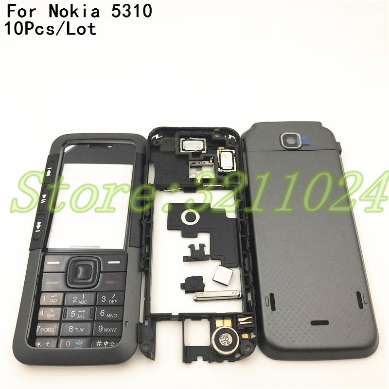 10Pcs/Lot Good quality New Full Complete Mobile Phone Housing Cover <font><b>Case</b></font>+English Keypad For <font><b>Nokia</b></font> <font><b>5310</b></font> With Logo image