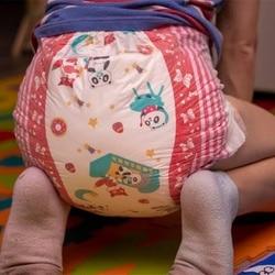 ZEHN @ NACHT Regenbogen Woche Windel ABDL Extra Große Größe Weihnachten Windel Stretchy Taille DDLG Windel Panda Verschiedene 7 stücke in EINER Packung