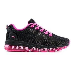 Image 4 - Женские беговые кроссовки ONEMIX, Женская легкая Светоотражающая сетчатая разноцветная уличная спортивная обувь для бега и прогулок