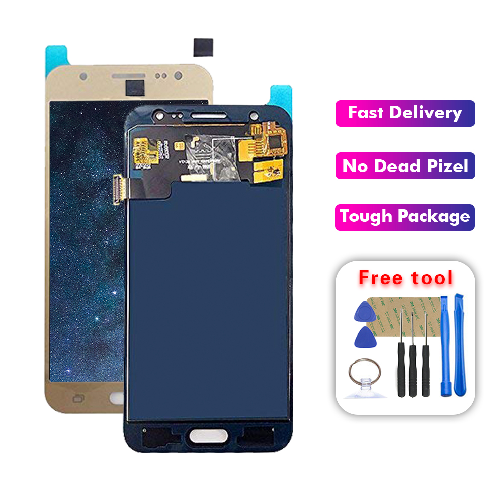 Super AMOLED <font><b>LCD</b></font> For Samsung Galaxy J5 2015 J500 SM-J500FN J500M <font><b>J500F</b></font> <font><b>LCD</b></font> Display Touch Screen Digitizer Glass Assembly image