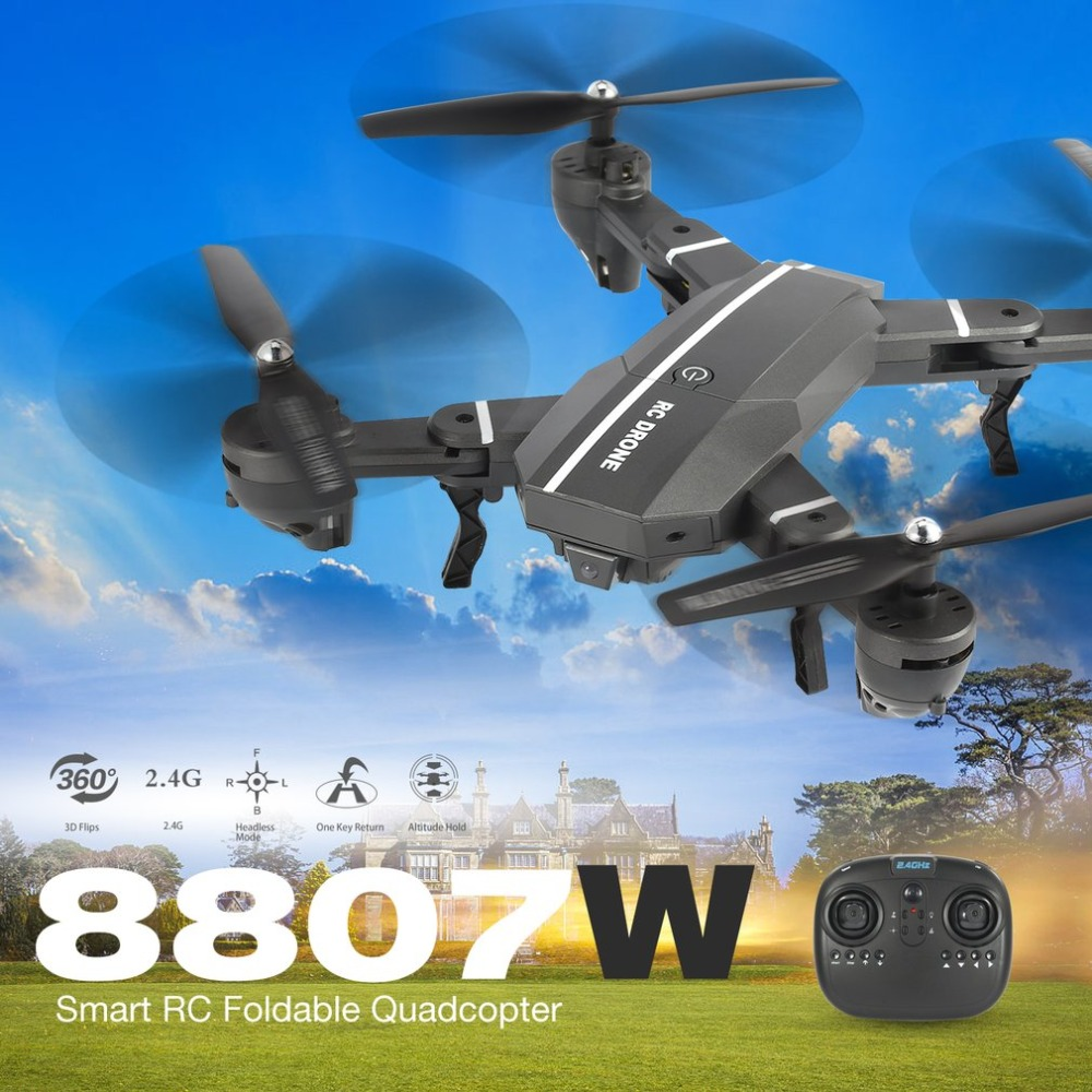 Hot! 2.4G FPV Foldable RC Drone Smart RC Quadcopter 4CH with Altitude Hold Headless Mode 360' Flip Led Light RTF VS XS809HW Toy