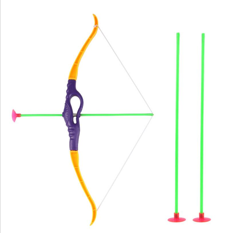 Outdoor Shooting Toys For Children Simulation Plastic Bow +3pcs Arrow Arrow Toy Kids Baby Safety Soft EVA Arrow