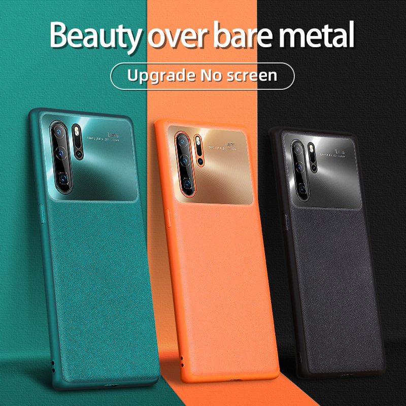 Joyroom Leather+ PC Case For Huawei P30 Pro Case Luxury Shockproof Bumper Back Case For Huawei P30 Cover Original Official Color