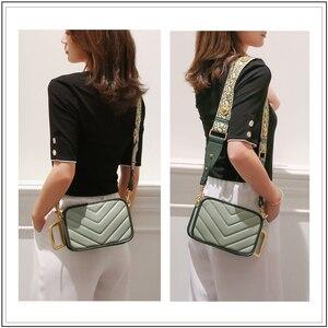 Image 5 - Avro moda moda couro genuíno bolsa de ombro para as mulheres 2019 feminino pequeno crossbody bolsa do vintage quadrado mensageiro saco aleta
