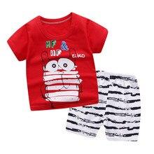 Kids Baby Cartoon Clothes Set T-shirt Shorts