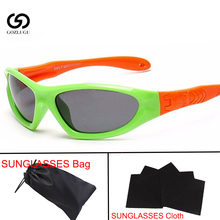Sunglasses Kids Polarized Square Lens Girls Boys Silicone Childrens Mirror Gifts Child Safety Glasses UV400