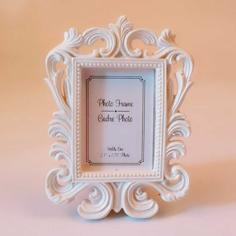 خمر إطار صور نمط الزفاف سطح المكتب إطارات الصور غرفة المعيشة ديكور المنزل إطار صور راتنج هدية شعبية