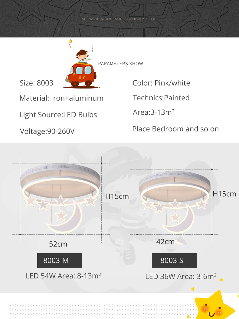 H0d2eeaa01bcb4fb69102cbc8f3337cc06 Wall Mounted Lights | Surface Mount LED Lights | New Ceiling Lights Girl Children Room Bedroom Modern LED Lighting Surface Mount Remote Control Indoor Lamp Lampara Techo 001