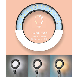 Image 2 - Foleto Anillo de luz LED de 16cm para Selfie, lámpara de anillo de maquillaje para fotografía con soporte para teléfono, enchufe USB para transmisión en vivo, Youtube y vídeo