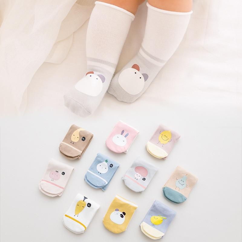 3Pairs / Lot Newborn Cotton Cartoon Floor Socks Baby Socks Boys Girls Cute Baby Toddler Socks