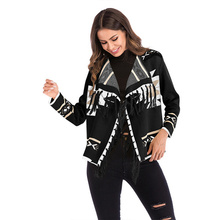 bomber coat women streetwear cropped coat Cotton Casual Tassel Short Turn-down Collar Open Stitch winter bubble coat fashion new new 2019 spring women geometric pattern fringed shawl turn down collar coat splices tassel open stitch long sleeve knit cardigan