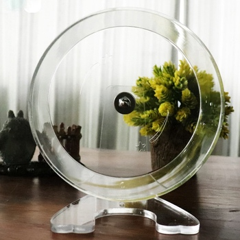 Clear Hamster Running Exercise Wheel Ball Pet Toy For Small Animal Hamster Rat Chinchilla Mice Jogging Training Toy 4