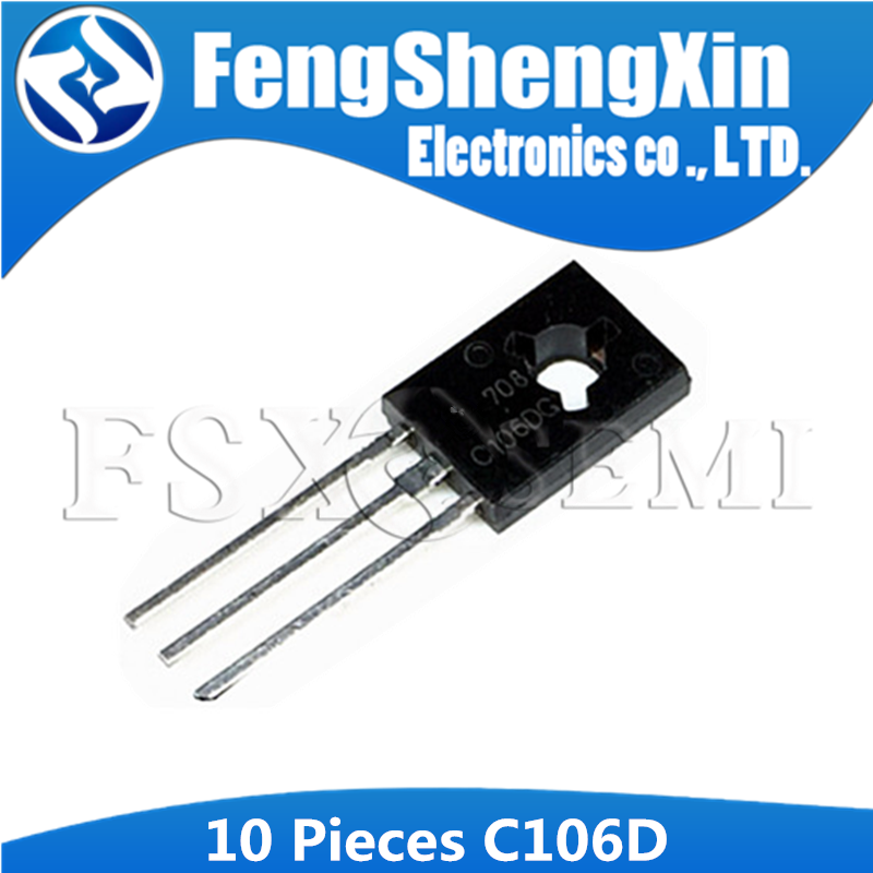 10PCS C106DG TO126 C106 TO-126 C106D 2SC106 Sensitive Gate Silicon Controlled Rectifiers image