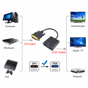 Image 2 - KEBIDU 1080P DVI D to VGA Active Adapter Converter Cable 24+1 Pin Male to 15Pin Female Monitor Cable for PC Display Card Full HD