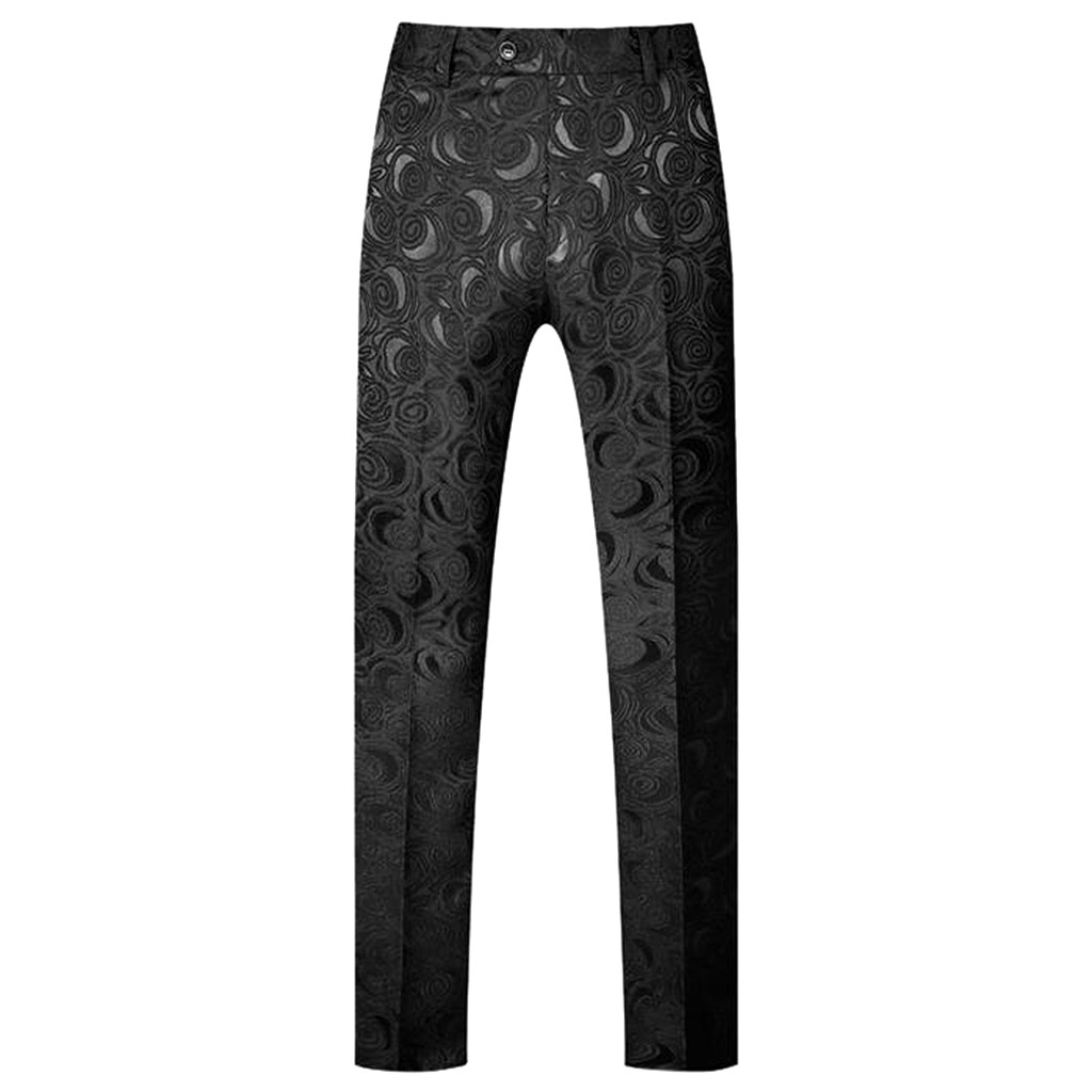 Suit Pants Office-Trousers Slim-Fit Social Casual for Men Ankle-Length Homme