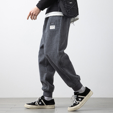 Harem Pants Streetwear Trousers Men Joggers Hip-Hop Corduroy Casual Fashion Spring Ankle-Length