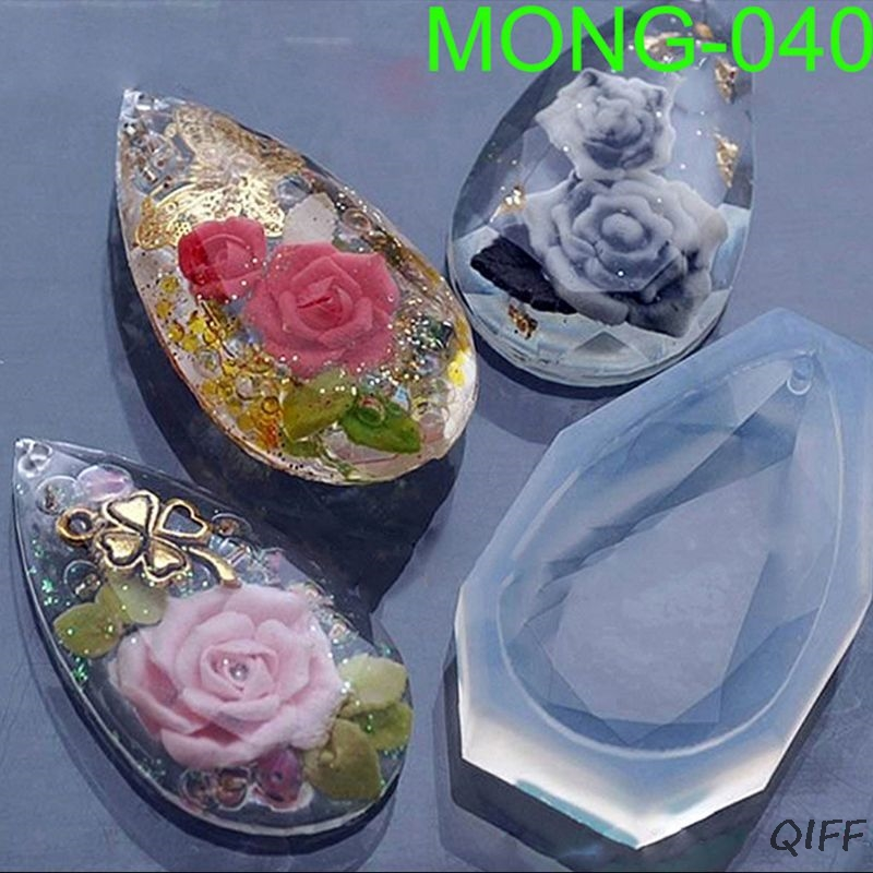 Faceted Teardrop Pendant Silicone Resin Mold Jewelry Making DIY Craft Tools