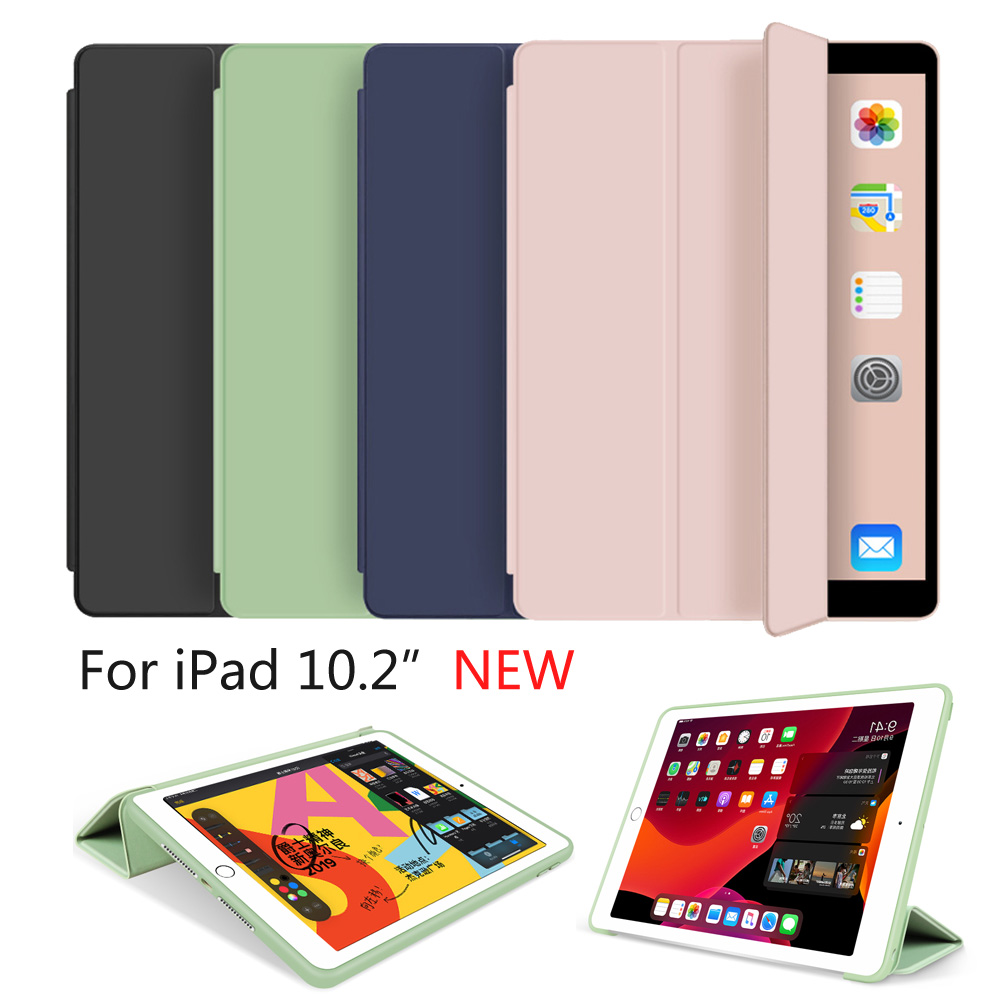 Trifold Smart Case For IPad 10.2 Inch 2019 7th Gen , Auto Sleep/Wake Lightweight Stand Case For IPad 10.2 -inch
