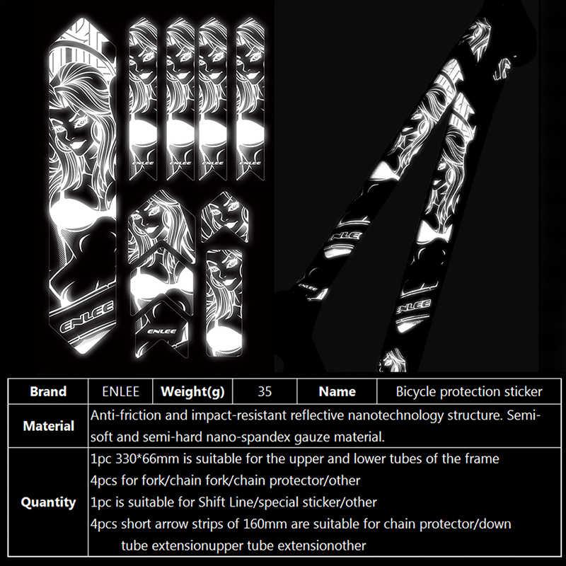 ENLEE MTB מדבקות 3D להגן על מסגרת רעיוני סריטות מדבקות ללבוש עמיד חוזר להדביק אופניים פסטר משמר כיסוי