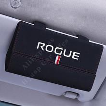 Uchwyt na okulary przeciwsłoneczne do samochodu Nissan Rogue Sport etui na okulary przeciwsłoneczne do samochodu osłona przeciwsłoneczna akcesoria do pojazdów tanie i dobre opinie CN (pochodzenie) 16 5cm półki 0 2kg protect your sun glass X5-107 pu Leather Sunglasses Storage Box White Red