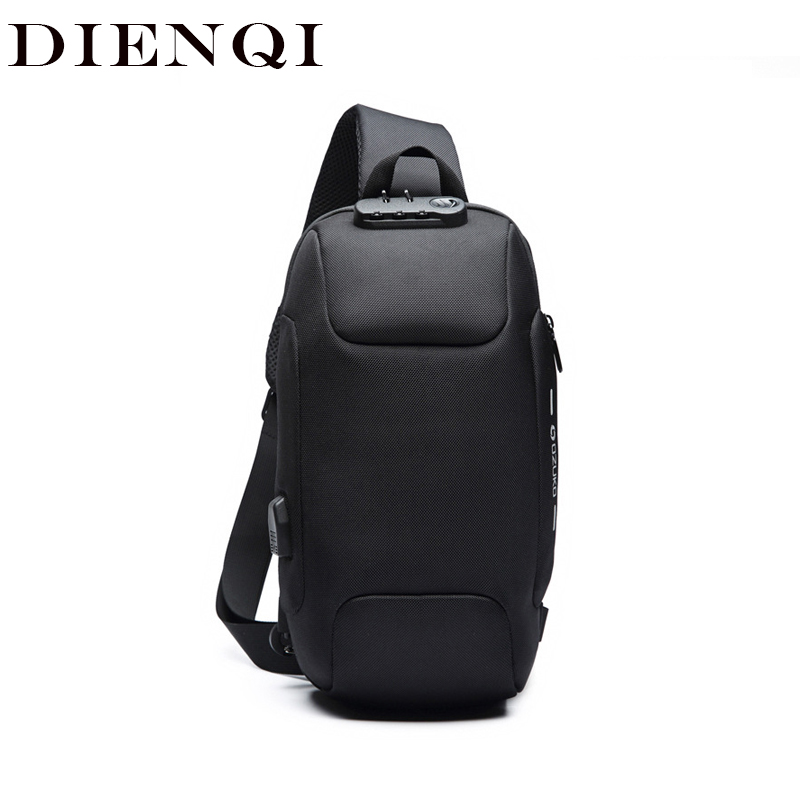 OZUKO 2020 New Multifunction Crossbody Bag For Men Anti-theft Shoulder Messenger Bags Male Waterproof Short Trip Chest Bag Pack