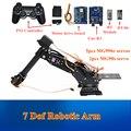 APP Open Source et PS2 contrôle 7 Dof Robot modèle de bras robotique avec Servo de vitesse en métal pour Arduino bricolage tige jouet