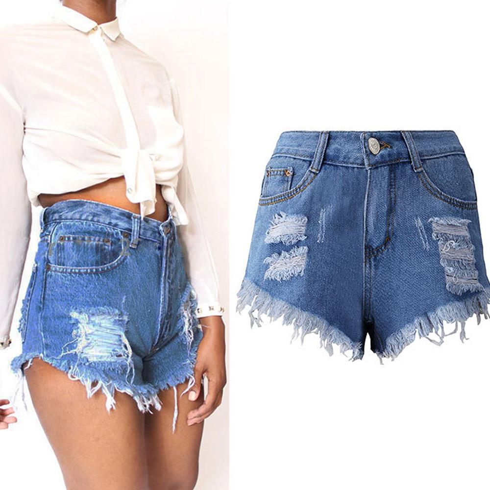 Women Sexy Tassel Hole Shorts Jeans Denim Short Pants Women'S Denim Shorts  Pantalones Cortos Mujer#s|Shorts| - AliExpress
