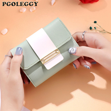 PGOLEGGY Fashion Small Women Wallets PU Leather Tri-fold Ladies Short Coin Purse Designer Cute Wallet Carteira Feminina dudini fashion casual style ladies wallet solid color lichee pattern women wallets 3 fold pu leather short section small wallet