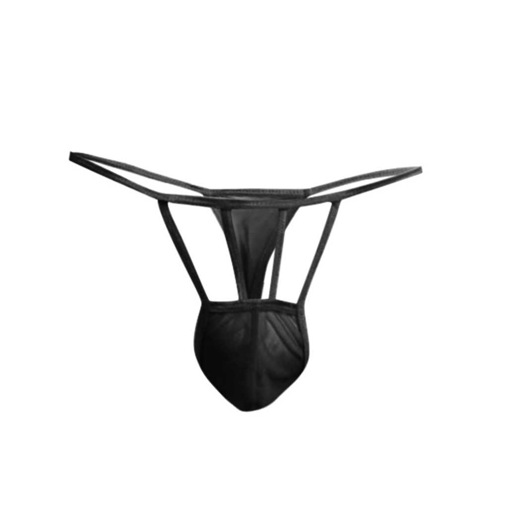 YOUYEDIAN Men's Fine Mesh big penis man Thongs underwear man sexy Transparent T-shaped Lingerie Thongs Underwear#y45