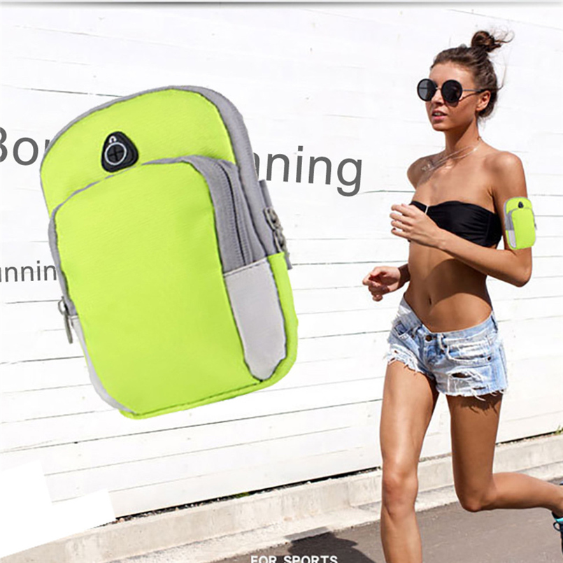 Mobile phone arm bag sports arm bag men and women running arm bag outdoor fitness riding nylon wrist bag running wristband 20O28 (10)