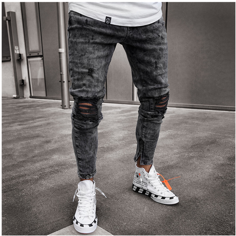 Jeans   masculinos,   jeans   justo elástico colorido sólido nova moda 2019, calças justas masculinas, calças casuais masculinas, calç