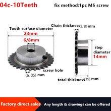 Sprocket 04c 45 10teeth 2pc Table-Wheel Screw-Hole Two-Point 25H -Steel 6/8mm M5