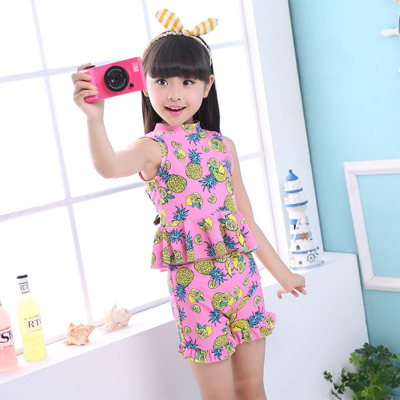 Little Girl Children Split Type Tour Bathing Suit Middle And Large GIRL'S Swimsuit South Korea Cute CHILDREN'S Bathing Suit Boxe