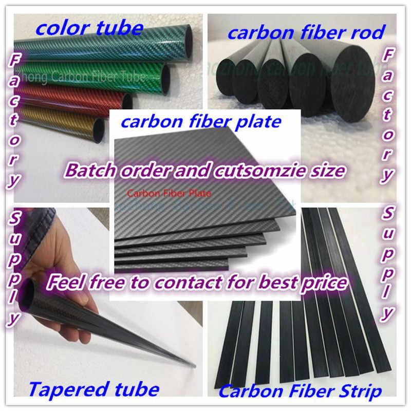 2pcs Glossy 11mm OD x 9mm ID x 1000mm 3K Roll Carbon Fiber Tube Rod Quadcopter