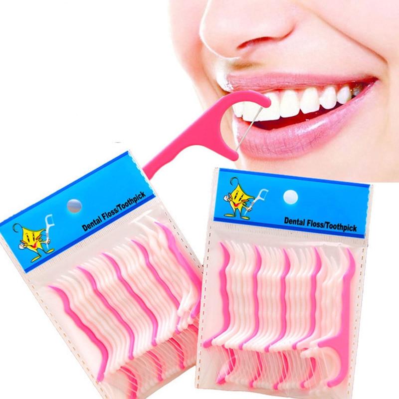 25pcs Dental Flosser, Oral Hygiene Dental Floss Toothpicks