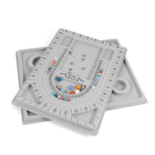 Gray Flocked Bead Board Bracelet Beading Organizer Jewelry Making Tray WorkBenches Size Measuring Plate Craft Tool Accessories 100x250mm size pad print cliche making customized pre imaged metal plate board