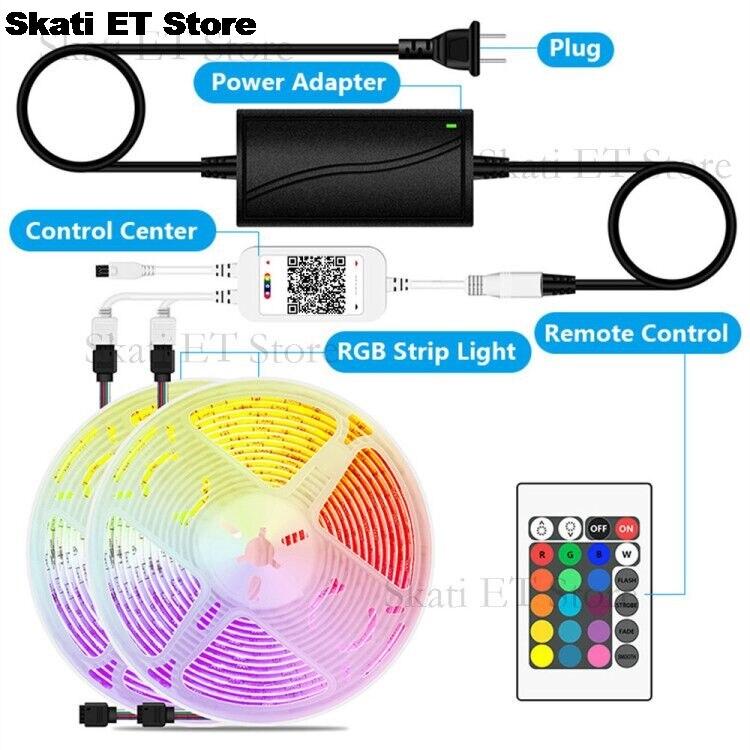 LED Bluetooth bande lumières 5M RGB 5050 2835 SMD ruban Flexible LED RGB imperméable lumière 10M 15M bande Diode DC 12V contrôle