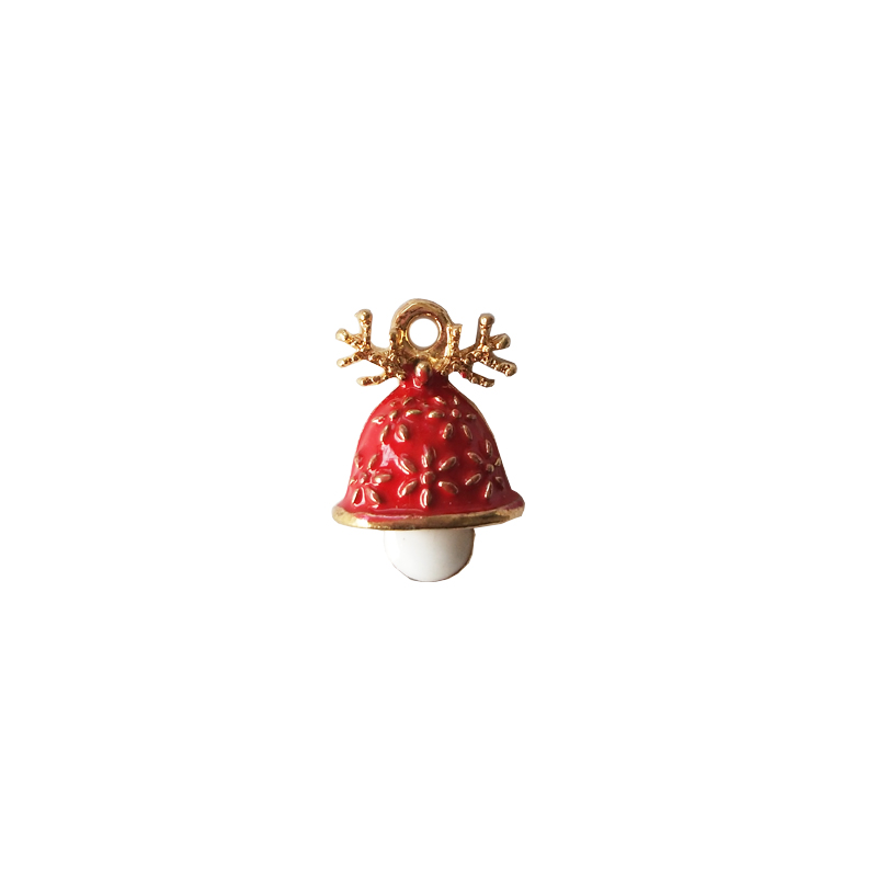 10pcs Christmas Series Alloy Enamel Charms Antler Mushroom Pendants Floatings Earrings Bracelets DIY Jewelry Accessory FX157 in Charms from Jewelry Accessories