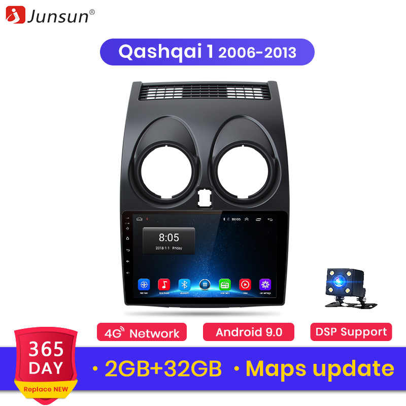 Junsun V1 Android 9,0 2GB + 32GB DSP Radio de coche Central Multimidia reproductor de Video GPS para Nissan Qashqai 1 J10 2006-2013 2 din dvd