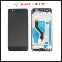 High Quality 5.2 IPS LCD For Huawei P10 Lite Display Touch Screen Digitizer For Huawei P10 Lite LCD Screen with Frame factory quality ips lcd display 7 85 for supra m847g internal lcd screen monitor panel 1024x768 replacement