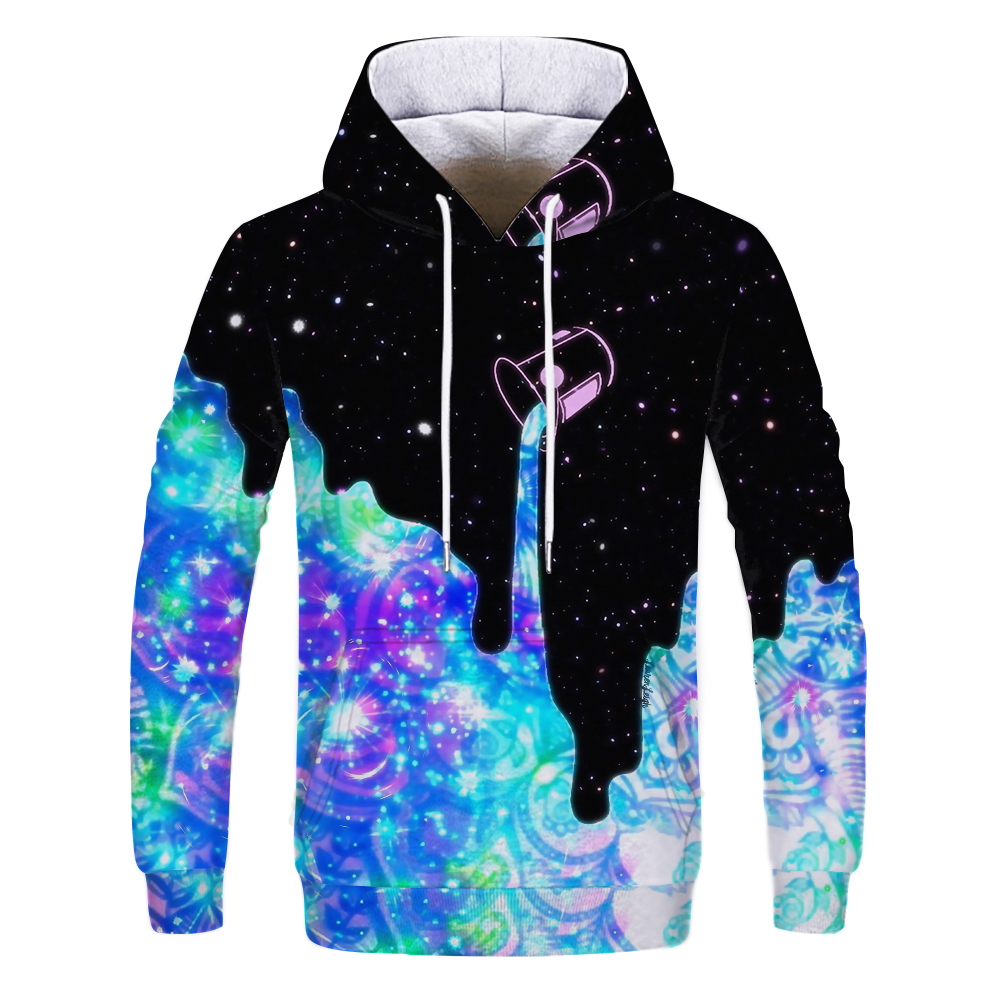 Hot Fashion Men/Women 3D Sweatshirts Print Milk Space Galaxy Hooded Hoodies Unisex Tops Wholesale And Retail Jackets Tops