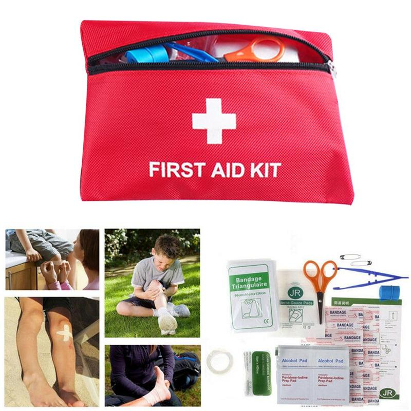 44Pcs/Set Mini Safe Camping Hiking Car First Aid Bag Kit Medical Emergency Kit Treatment Pack Outdoor Wilderness Survival Home