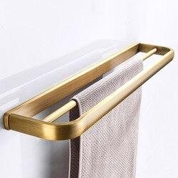 W nowym stylu wyroby sanitarne akcesoria sprzętowe mosiądzu proste wc podwójna warstwa w stylu Vintage wieszak na ręczniki ręcznik wiszący pręt zawodu producentów