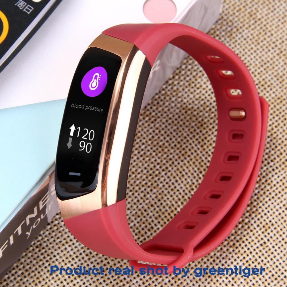 H0d3100913be540fa9a695fe2f0a672e6H Greentiger E18 Smart Bracelet Blood Pressure Heart Rate Monitor Fitness Tracker smart watch IP67 Waterproof camera Sports Band