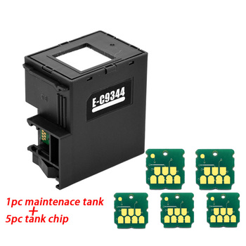 C9344 Maintenance Tank For Epson waste ink Xp-2100 2105 XP-3100 XP-3105 XP-4100 XP-4105 WF-2810 WF-2830 WF-2835 WF-2850 printers refill ink cartridge t03a1 t03a4 for epson workforce wf 2810 wf 2830 wf 2835 wf 2850 printer with one time chip singe use