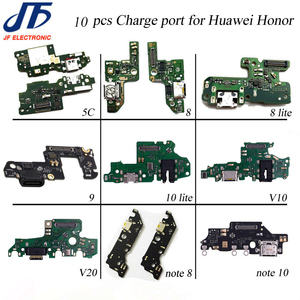 Image 1 - 10pcs USB Charging For Huawei Honor 5x 5c 6x 7x 8 9 lite 10 lite V9 10 v20 note 8 note 10 Charger Port Dock Connector Flex Cable